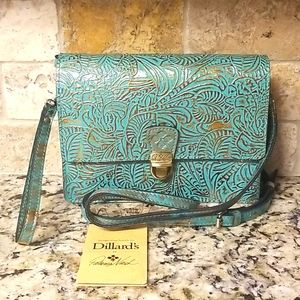 🌟NWT 🌟 Patricia Nash Metallic Tooled Crossbody